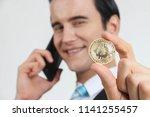 businessman received a lot of... | Shutterstock . vector #1141255457