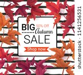 big autumn sale. fall sale... | Shutterstock .eps vector #1141256531