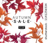 big autumn sale. fall sale... | Shutterstock .eps vector #1141256534