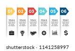 vector paper arrows infographic ... | Shutterstock .eps vector #1141258997