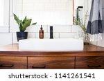 bright white modern bathroom... | Shutterstock . vector #1141261541