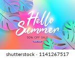summer sale background layout... | Shutterstock .eps vector #1141267517