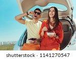 cherries and strawberries.... | Shutterstock . vector #1141270547