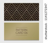 pattern card 06. background... | Shutterstock .eps vector #1141272347