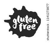 calligraphy label gluten free...   Shutterstock .eps vector #1141273877