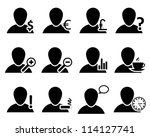 office and people icon set.... | Shutterstock . vector #114127741
