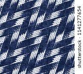 rustic herringbone motif dyed... | Shutterstock . vector #1141277654