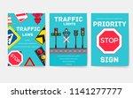 traffic light day vector... | Shutterstock .eps vector #1141277777