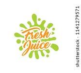 juice splash vector sign | Shutterstock .eps vector #1141279571