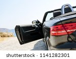 summer car on raod and free... | Shutterstock . vector #1141282301