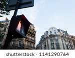 traffic light signal in red in... | Shutterstock . vector #1141290764