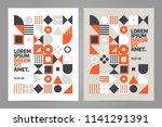brochure design template with... | Shutterstock .eps vector #1141291391