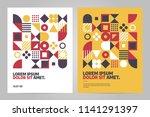 brochure design template with...   Shutterstock .eps vector #1141291397