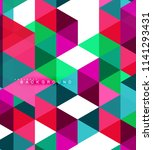 multicolored triangles abstract ... | Shutterstock .eps vector #1141293431