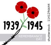 day of remembrance and... | Shutterstock .eps vector #1141296644