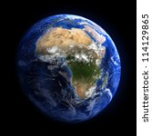 the earth from space showing... | Shutterstock . vector #114129865