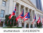 ohio state flags at the state... | Shutterstock . vector #1141302074