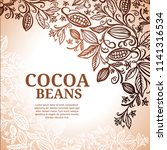 cacao beans plant  vector... | Shutterstock .eps vector #1141316534