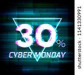 cyber monday sale discount... | Shutterstock .eps vector #1141330991