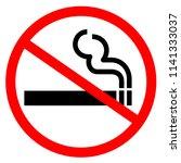 restrictive sign no smoking   Shutterstock . vector #1141333037