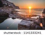 sunrise in begur  costa brava ... | Shutterstock . vector #1141333241