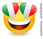 italy love emoji face vector... | Shutterstock .eps vector #1141333544