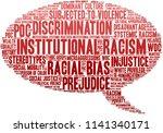 institutional racism word cloud ... | Shutterstock .eps vector #1141340171