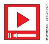 video player icon isolated on...