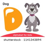 Yellow Letter D And Gray Dog....