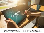 quality assurance. control and... | Shutterstock . vector #1141358531