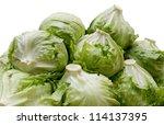 piles of iceberg lettuce   Shutterstock . vector #114137395