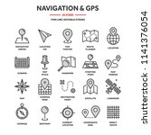 map and navigation. gps... | Shutterstock .eps vector #1141376054