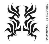 ornamental abstract ink shape.... | Shutterstock . vector #1141379087
