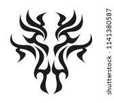 ornamental abstract ink shape.... | Shutterstock . vector #1141380587