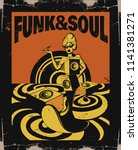 funk   soul. vector hand drawn... | Shutterstock .eps vector #1141381271
