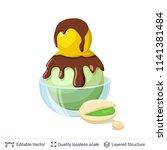 ice cream refreshing dessert.... | Shutterstock .eps vector #1141381484