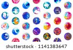 fluid art in a petri dish.... | Shutterstock . vector #1141383647