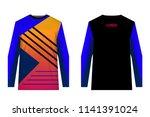 design for sublimation print.... | Shutterstock .eps vector #1141391024