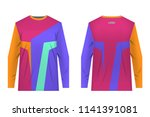 design for sublimation print.... | Shutterstock .eps vector #1141391081