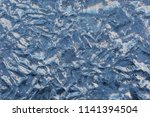 texture of the ice surface with ... | Shutterstock . vector #1141394504