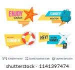set of summer badges isolated... | Shutterstock .eps vector #1141397474