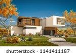 3d rendering of modern cozy... | Shutterstock . vector #1141411187