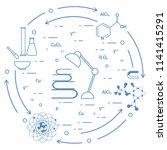 scientific  education elements. ... | Shutterstock .eps vector #1141415291