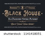 original handmade alphabet.... | Shutterstock .eps vector #1141418051