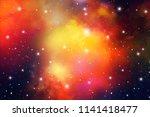 astrology mystic galaxy...   Shutterstock .eps vector #1141418477