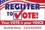 register to vote with flag... | Shutterstock .eps vector #1141424354