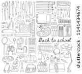back to school set with... | Shutterstock .eps vector #1141434674