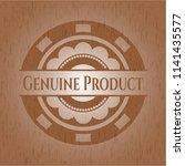 genuine product wood emblem.... | Shutterstock .eps vector #1141435577