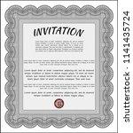 grey vintage invitation... | Shutterstock .eps vector #1141435724