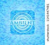 ambient light blue emblem.... | Shutterstock .eps vector #1141447481